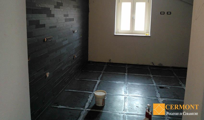 posa pavimento con stucco epossidico