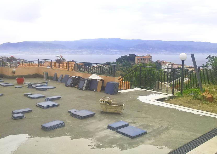posa guaina cementizia terrazzo esterno messina